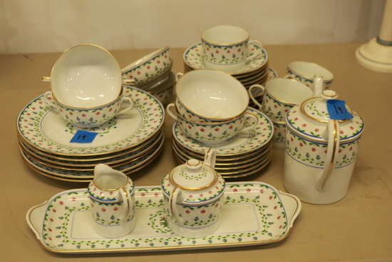 Limoges Tea Set & Plates