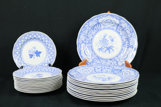 "Spode Blue Room Collection ""Floral"" Plates"