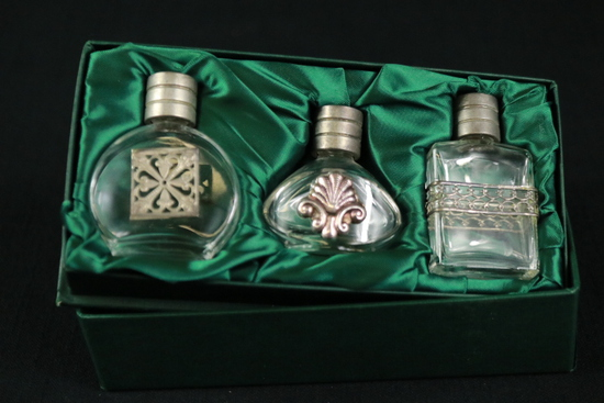 3 Perfume Bottles In Box