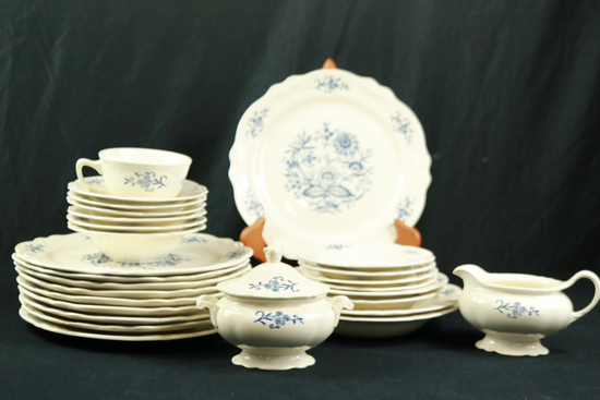 Partial Set Of Blue Dresden China