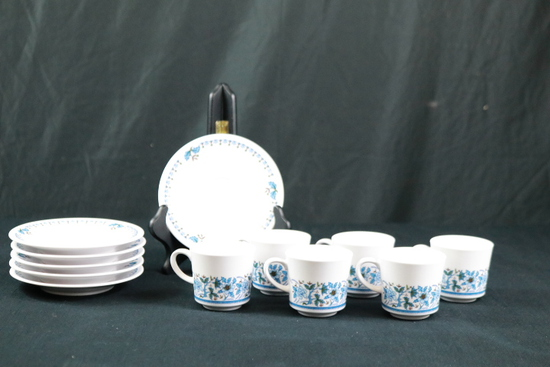 6 Noritake Bluemoon Progression Pieces