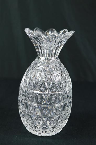 Pineapple Shaped Crystal Vase