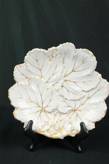 White & Gold Leaf Plate