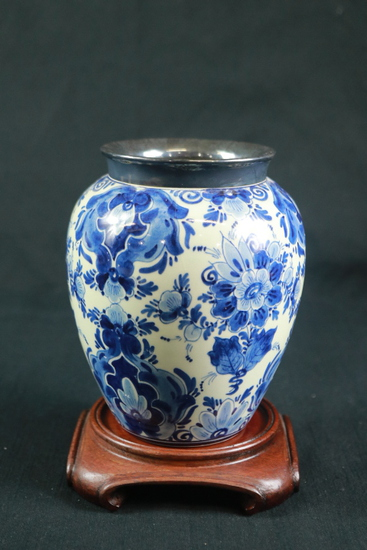 Hand Painted Vase On Stand