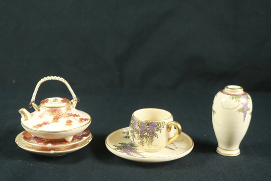 Small Asian Teapot, Asian Plates, & Vase