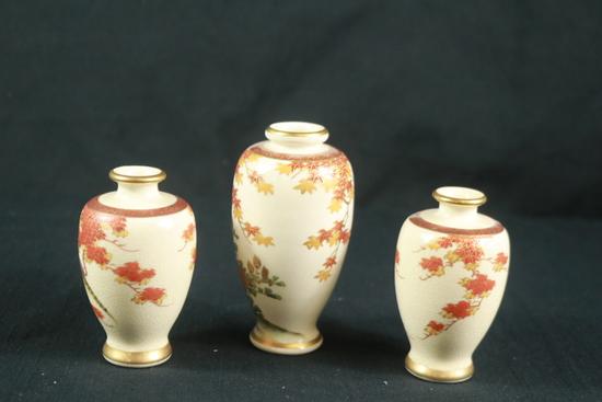 3 Asian Vases