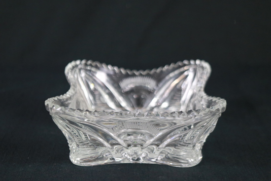 Etched Crystal Bowl