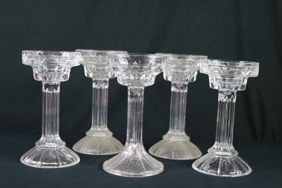 5 Shannon Crystal Candle Holders