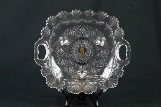 Footed Crystal Plate