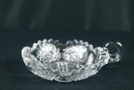 Crystal Handled Dish