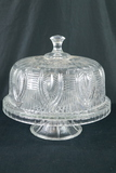 Glass Covered Cake Dish