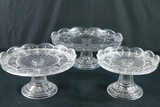 3 Cake Plates In Assorted Sizes
