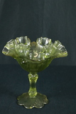Fluted Glass Pedestal Bowl
