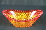Oval Carnival Glass Dish