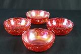 4 Carnival Glass Bowls