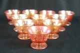 10 Carnival Glass Sherbets