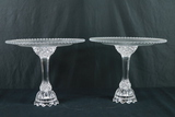 2 Crystal Cake Stands