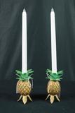 Pair Of Brass Pineapple Sticks