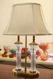 Brass & Crystal Lamp