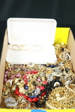 Box Of Costume Jewelry & Sterling Silver Jewelry