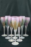 10 Rueven Glass Assorted Stems
