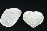Mikasa Porcelain Basket & Heart Shaped Bowl