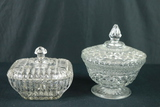 2 Glass Candy Dishes