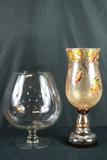 Glass Vase & Crackle Glass Vase