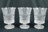 3 Pressed Glass Vases