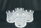 4 Pressed Glass Glasses