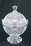 Glass Covered Candy Dish