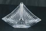 Triangle Shaped Glass Vase