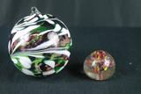 Art Glass Christmas Ornament & Art Glass Paper Weight