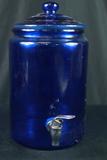 Blue Glass Seltzer Jar