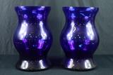 2 Cobalt Blue Vases