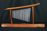 Asian Bamboo Stand With Chimes