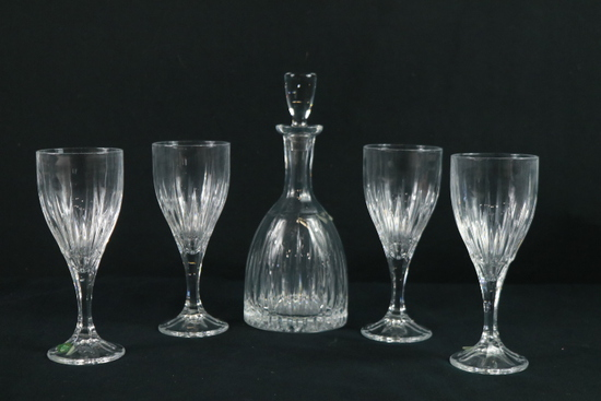Shannon Crystal Decanter & 4 Glasses