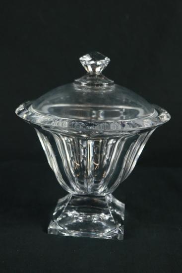 Glass Covered Pedestal Bowl