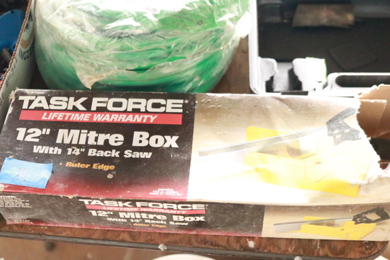"""Task Force 12"""" Mitre Box With Saw"""