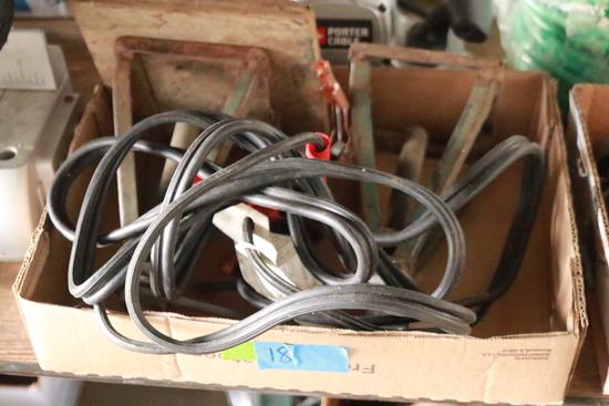 2 Jack Stands & Set Of Jumper Cables