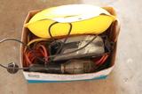Shop Light, 2 Cord Reels, & Cords