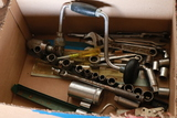 Box Of Wrenches, Sockets, & Breast Drill