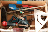 Breast Drill, Yankee Drill, Wood Plane, Square, & Assorted Tools