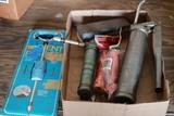 Dent Puller, 2 Grease Guns, & Wet Stone