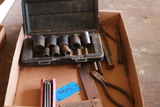 Box Of Sockets, Allen Wrenches, Chisels, & Square