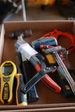 Chisel, Hammer, Wire Brush, Oil Filter Wrench, & Prybar