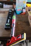 Air Conditioner Recharge Kit, Paint Stick, & Level