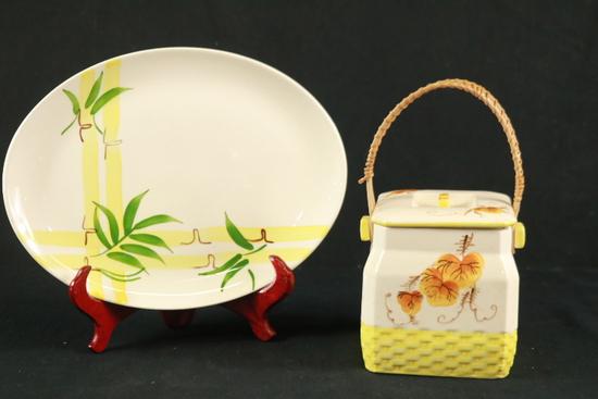Porcelain Basket & Plate