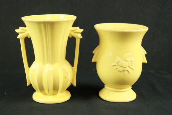2 McCoy Vases