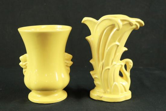 1 McCoy Vase & Yellow Ware Vase